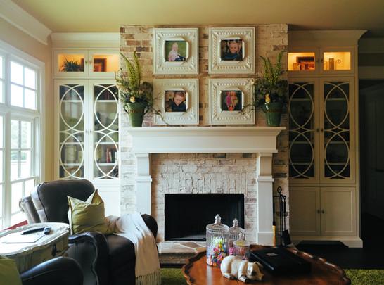 Thin Brick Veneer over Fireplace