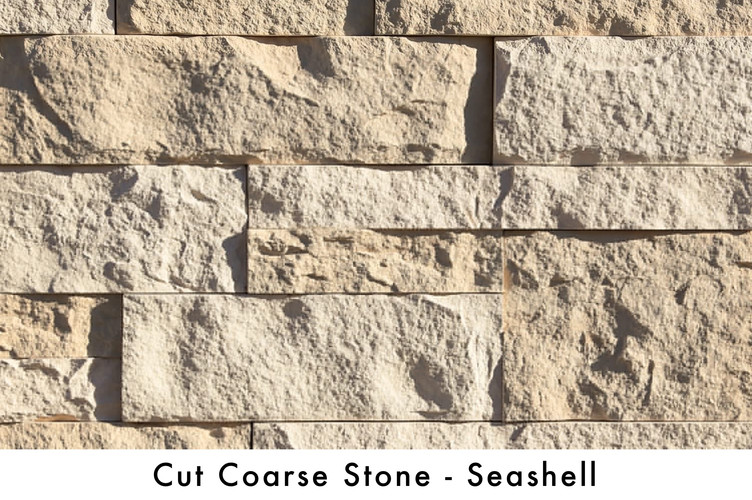 Cut Coarse Stone - Seashell