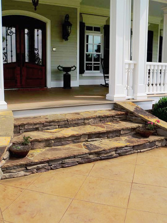 Front Porch Stairway Renewal