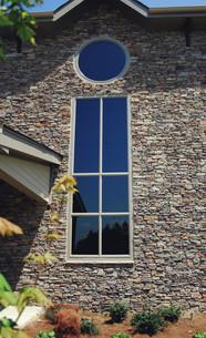 Large Window with Stone Veneer