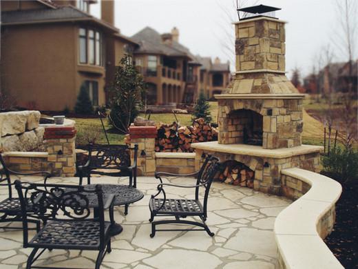 Fireplace Patio Natural Stone Block DIY