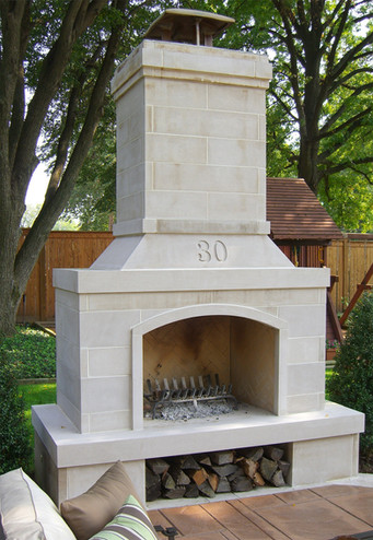 Minimal Clean Outdoor Fireplace