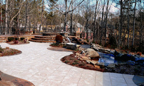 Paver Patio with River Bed
