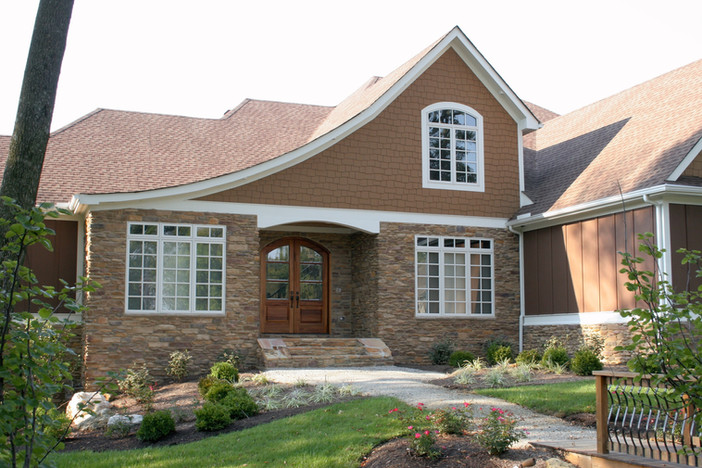 Stone Accent on Garden House