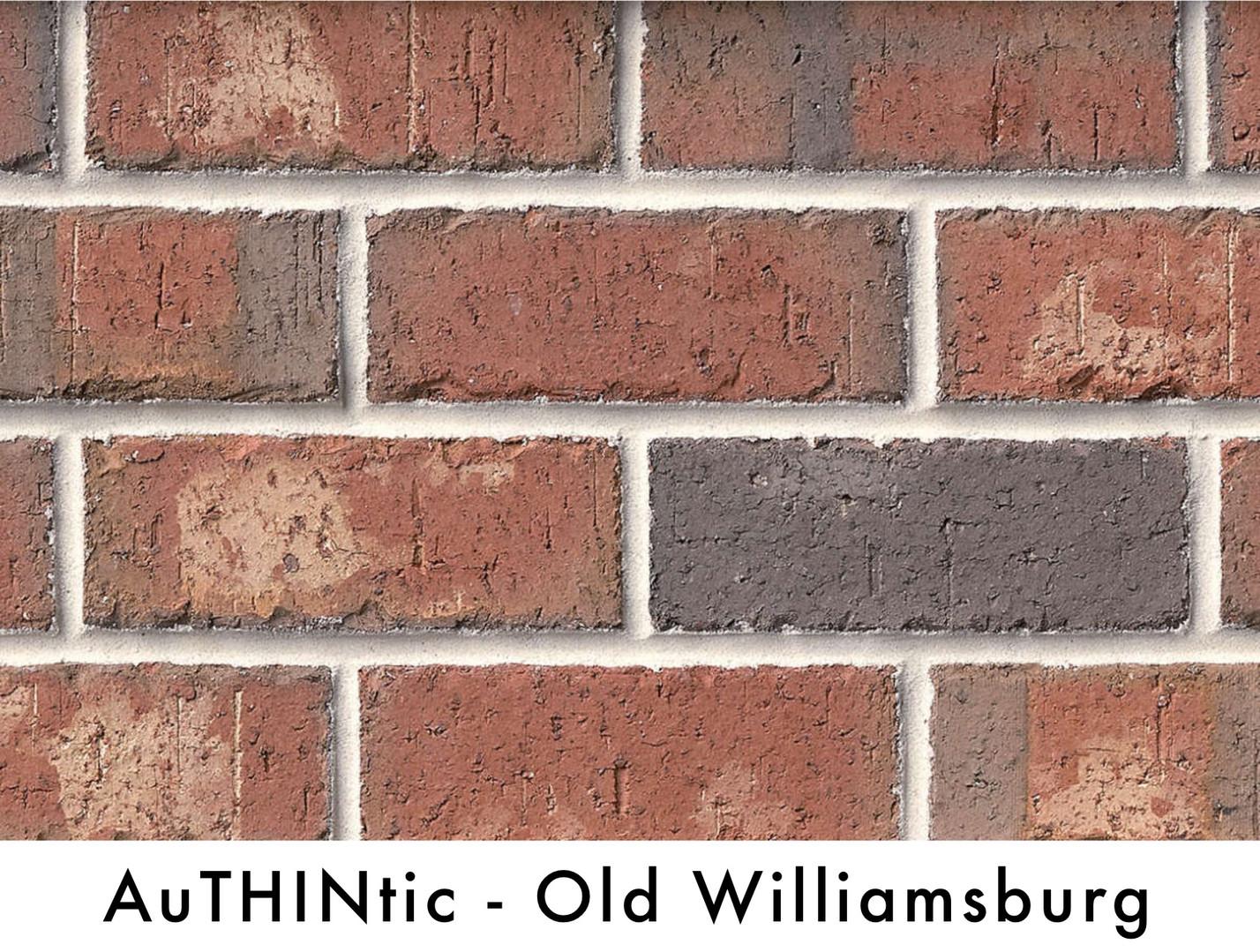 Authintic Brick - Old Williamsburg