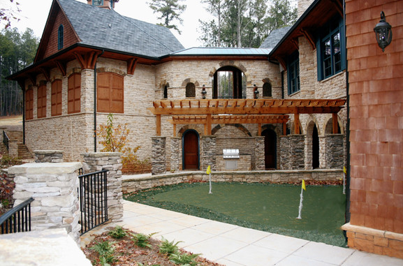 Stone Mansion with Putting Green