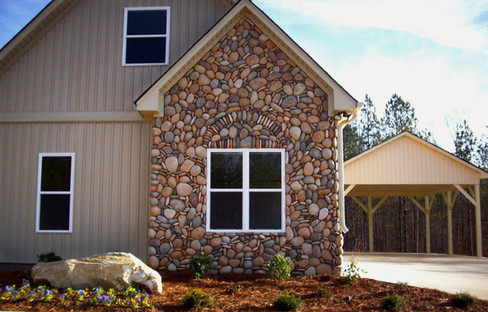 River Rock Accent Stone Siding