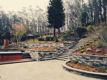 Multi Tiered Stone Garden Patio