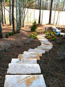 Stone Slab Garden Stairway