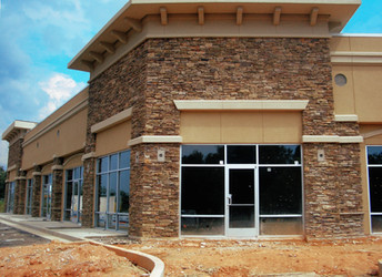 Commercial Storefront with Stone Veneer