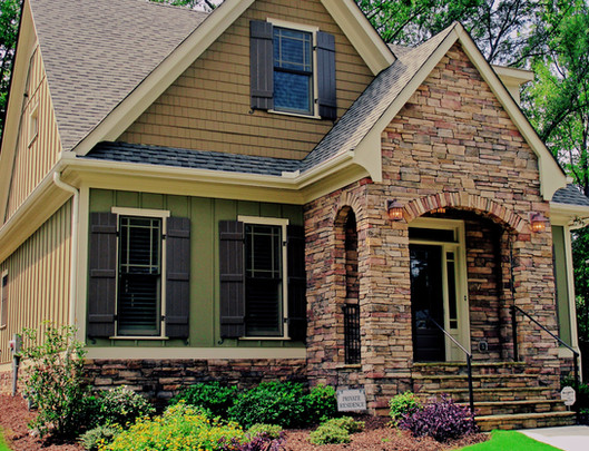 Stone Accented Front Porch