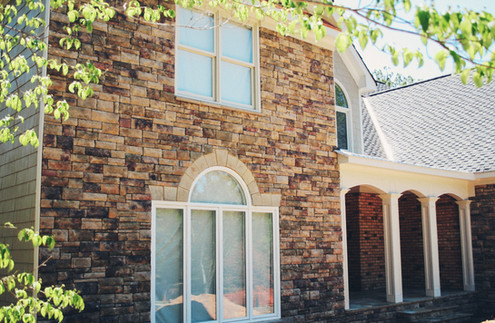 Home with Stone Accent