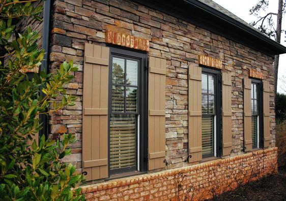 Stone & Brick Veneer with Shutters
