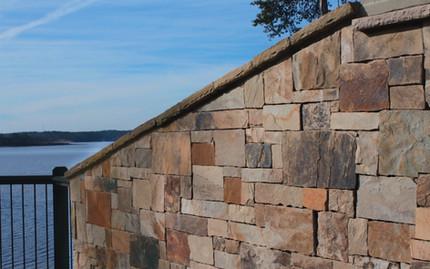 Block Retaining Wall on a Lake