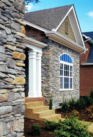 Stone Veneer Entry Way Update