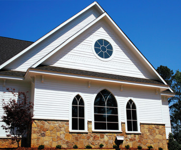 Church Stone Veneer Trim