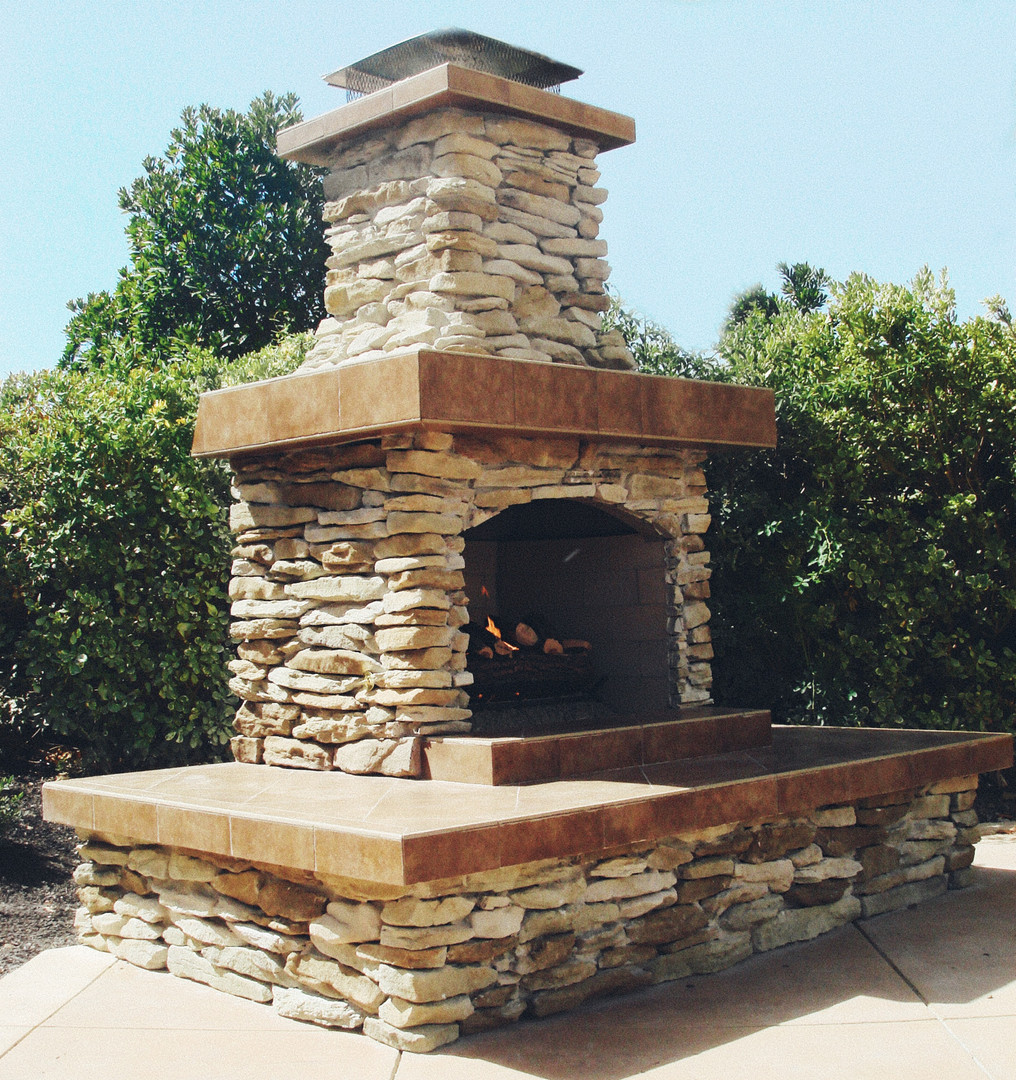 Outdoor Fireplace Large Hearth Stone Roc