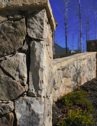 Natural Stone Pillar and Garden Wall