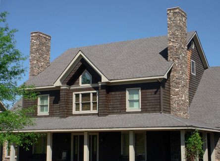 Chimney Renovation with Stone Veneer