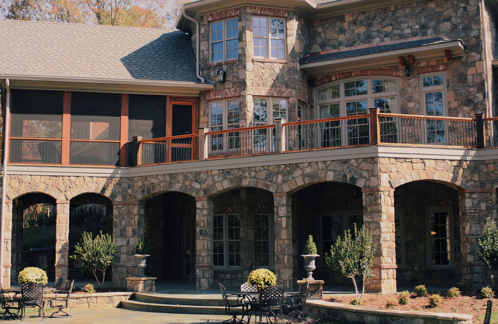 Large Stone Balcony and Patio