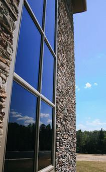 Blue Sky and Stone Veneer