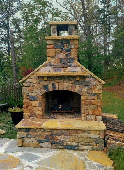 Custom Outdoor Fireplace and Patio