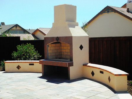 Southwestern Style Fireplace Patio