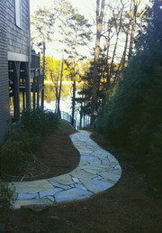 Natural Stone Paver Path