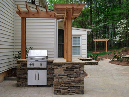Budget Outdoor Kitchen with Patio