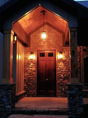 Entry Way Front Door Stone Porch Trim Si