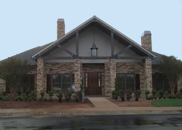 Commercial Stone Veneer and Wood
