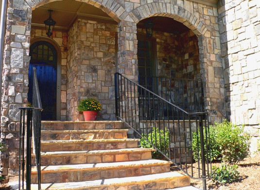 Stone Entry Way Stairway Update