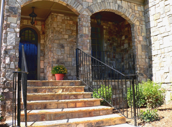 Stone Entry Way Stairway Update