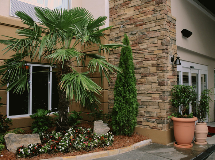 Commercial Hotel Stone Accent
