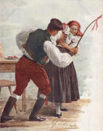 Gardavská Moravské painting of Easter whipping