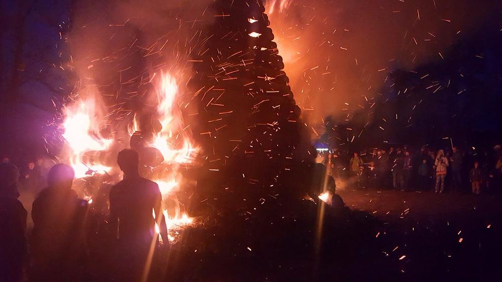 Čarodejnice bonfire burning the witches