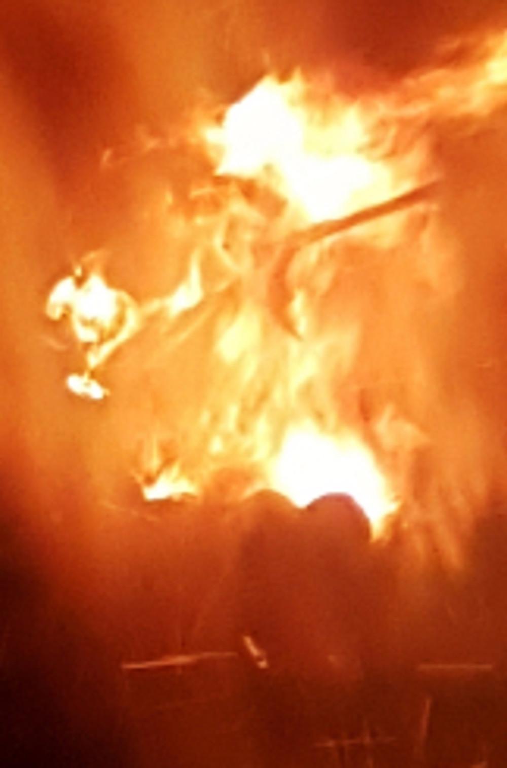 Starkov Čarodejnice witch effigy burning