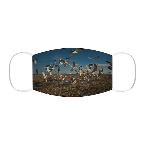 Brighton Beach Seagulls Snug-Fit Face Mask