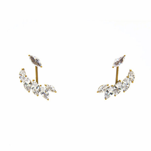 Feather Crystal Ear Jackets SM