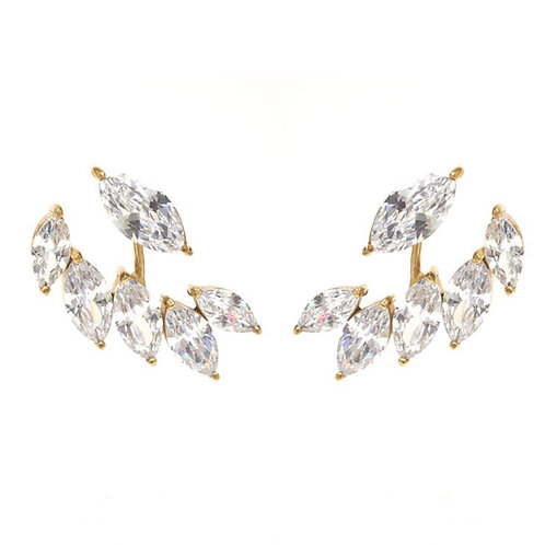 Feather Crystal Ear Jackets Large