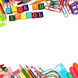 Colorful Back to School wooden blocks wi