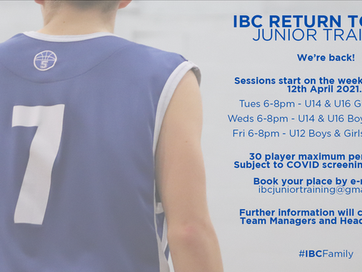 Ipswich announce Return to Play Junior Training plans