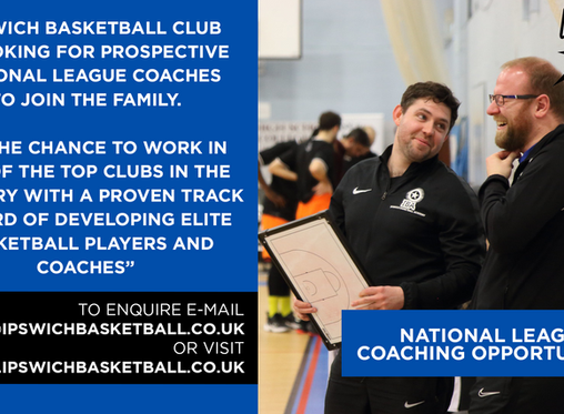 IBC Recruiting National League Coaches for 2020/21