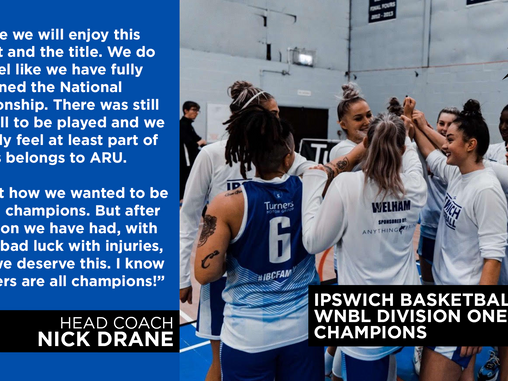 Ipswich Crowned WNBL Division One Champions