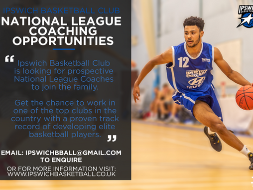 IBC Recruiting National League Coaches for 2019/20