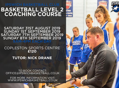 Ipswich to Host Level 2 Coaching Course this September