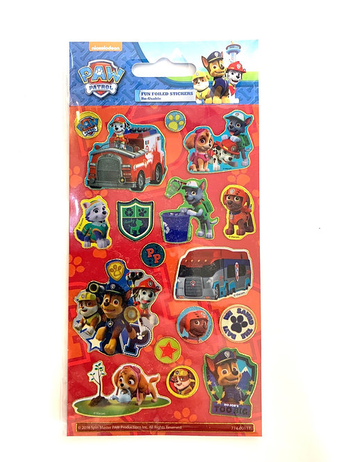 Red Paw Patrol Stickers