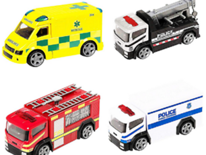 TEAMSTERZ 4INCH EMERGENCY TRUCKS