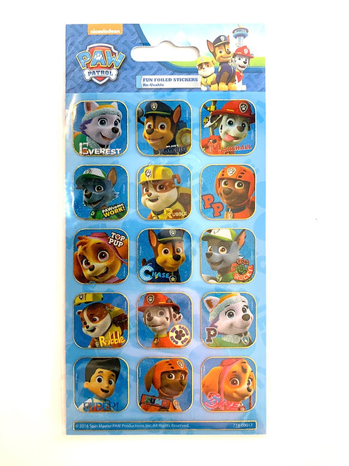 Blue Paw Patrol Stickers