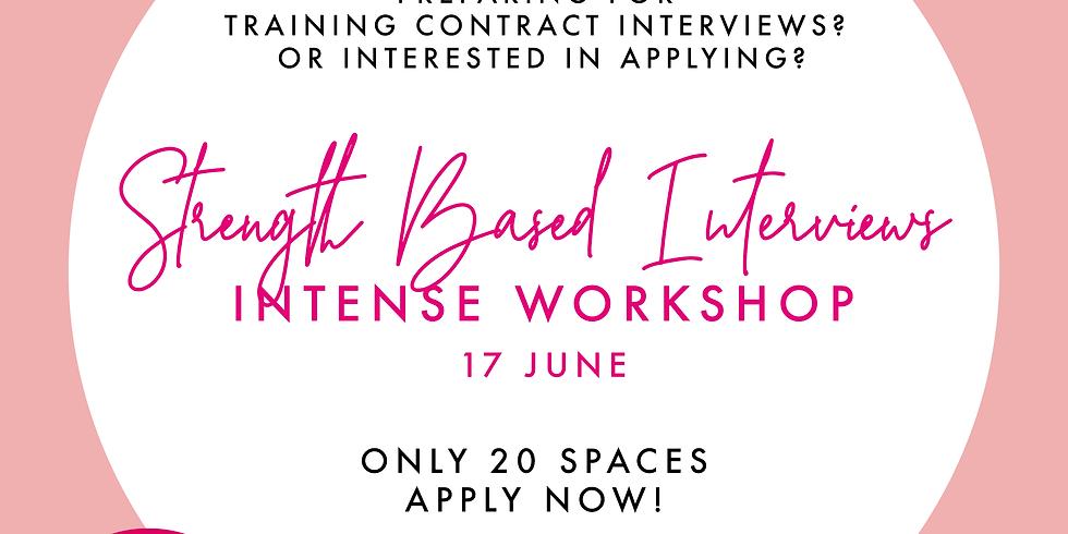 DWF - Strength Based Interviews Intense Workshop